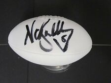 Collingwood -Nathan Buckley (Brownlow Winner) signed white Telstra mini football