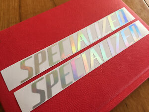 specialized decals stickers iridescent chrome rainbow  frame vinyl graphics bike