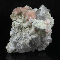 Fluorite Pink + Quartz Smokey 254.0 Ct. Solid of / the Mont-Blanc, France
