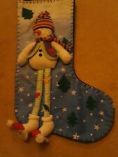 Snowman Christmas Stocking Great Condition