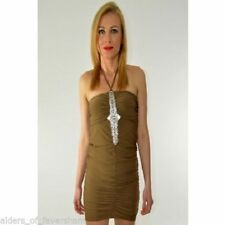 Ladies Diamonte Neckline Halterneck Dress 8-12 £2 Sale