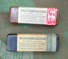 Original German WWII Gas Attack Salve (Hautentgiftungmittel) With Repro Label