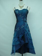 Cherlone Blau Damenkleider Cocktailkleid Party Ballkleid Brautjungfer Kleid 42
