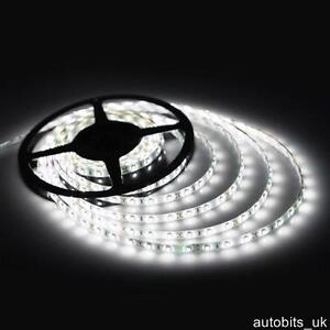 24V 5M WHITE LED SMD STRIP RIBBON BRIGHT PLINTH LIGHT WATERPROOF LIGHTING NEW