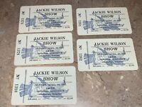 JACKIE WILSON 5 UNUSED 1965 CONCERT TICKETS Memorial Auditorium Chattanooga USA