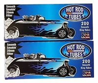 10x Boxes Hot Rod Smooth Light KING SIZE  ( 2,000 Tubes )  Cigarette Tube
