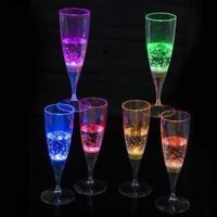 1Pcs*Led Flashing Cup Wine Glass Drink Cups Barware KTV Light Up Birthday sale