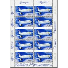 PA N°_63 AIRBUS A300-B4 LUXE feuille 10 timbres
