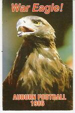 1986 AUBURN UNIVERSITY FOOTBALL POCKET SCHEDULE - WAR EAGLE! - FREE SHIPPING!