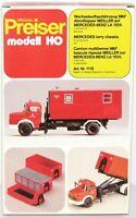 Preiser H0 1116 Wechselaufbaufahrzeug Abrollkipper Meiller MB LA 1924 NEU + OVP