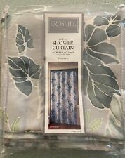 Croscill Pompano Shower Curtain - New in Package, Green Leaf Pattern
