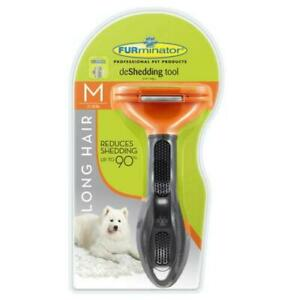 FURminator deShedding Tool for Long Hair Dogs Medium 21-50lbs, New Free Shipping