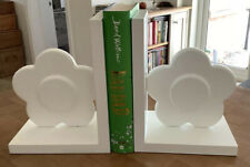 The Little White Company White Flower Wooden Book Ends New RRP £30