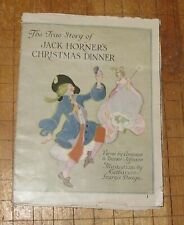 """Awesome vintage 1920's """"The True Story of Jack Horner's Christmas Dinner"""" paper"""