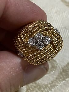 Vintage Gold And Diamond Ring