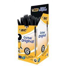 Boligrafo BIC cristal negro -unidad (50 Unid.)
