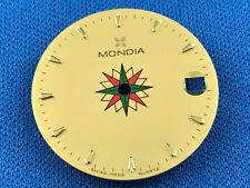 MONDIA Wrist Watch Dial Part 24mm -Quartz- Light Dots -Swiss Made- #701