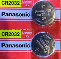 2 Panasonic CR2032  ECR 2032 Battery 3V Authorized seller. Exp. 2028. USA Ship.
