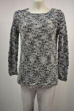 ESPRIT Strick Pullover M  Schwarz-Weiß Glitzerfäden mit Wolle Mohair warm TOP