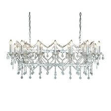 Searchlight Florence 14 Lights Chrome Clear Crystal Pendant Bar Ceiling Light