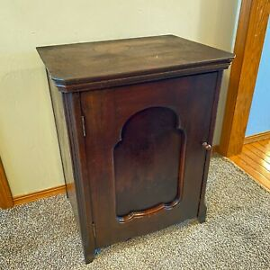 Empty Damascus Grand Rotary Treadle Sewing Machine Cabinet Antique Accent Table