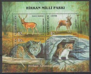 2013 Azerbaijan Cervus nippon Lynx lynx Hirkan National Park MNH