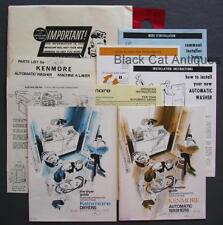 1978/79 Simpson Sears Kenmore Washer & Dryer Owners Manuals 6 Washer Models Incl