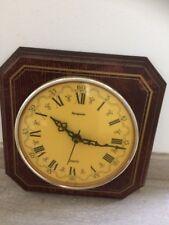Ancienne Horloge Murale Bois Cadran Jaune Vintage Deco Chalet Montagne French