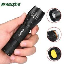 SKYWOLFEYE Zoomable 8000 Lumens XML T6 LED Tactical Torch Police Focus Light UP