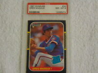 1987 Greg Maddux Donruss Rookie Card # 36 PSA 8 NM-MT Chicago Cubs HOF RC