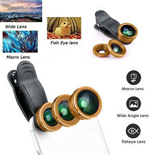 3 in 1 Universal Fish Eye Wide Angle Macro Clip Lens Set For iPhone Samsung HTC