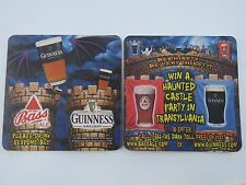 Beer Coaster >< GUINNESS Draught ~ Bass Ale ~ Transylvania Haunted Castle Party