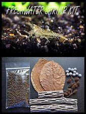 Freshwater Shrimp KIT,Mineral Balls,Cholla Wood,Almond Leaves,Alder Cones,Veggie