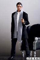 """1/6 Scale Men Black Clothes Over Coat Suits Set F/12"""" Male Action Figure Body"""