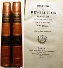 REVOLUTION FRANCAISE/HISTOIRE DE LA../F.A.MIGNET/ED DIDOT/1827/2 VOLS