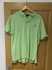 Ralph Lauren - Lime Green Custom Fit Horse Polo - Size Extra Large