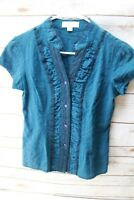 Fossil Small Dark Teal Women's Shirt Blouse