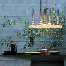 Moderna Lámpara de techo LED de iluminación Fucsia Cristal Colgante Luminarias