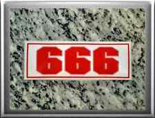 "Hells Angels support 81 stickers autocollants"" 666"" red & white"