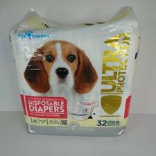 Paw Inspired 32ct Disposable Dog Diapers | Female Dog Diapers Ultra Protectio...