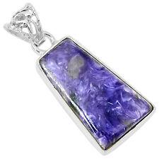 Siberia Charoite 925 Sterling Silver Pendant Jewelry 6607P