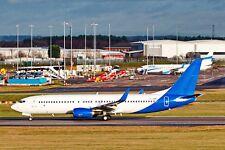 JET2 Boeing 737-8MG G-JZBC Birmingham BHX to Krakow (KRK) 29-12-2017 Postcard