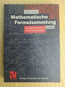 Lothar Papula, Mathematische Formelsammlung 9. Auflage