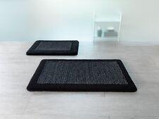Simply Black Schwarz Badteppich 55x65cm. Black Bath Rug Bath Mat Swiss Design