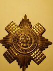 Vintage Scots Guard Pin - used, missing pin part, gold color,