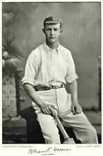 MIDDLESEX CRICKET. PF WARNER- Oxford Rugby Batsman 1896 old antique print