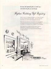 Vintage advertising print ad Bride 1956 Higbee's Wedding Gift Registry Ohio art