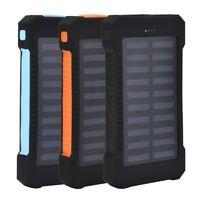 10000mAh Portable Solar Panel 2 USB External Battery Power Bank Pack Charger 5V