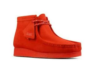 Original Clarks made in Vietnam Wallabee boots color: red