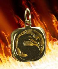 Mortal Kombat 24k Gold vermeil Charm Pendant MK Jewelry